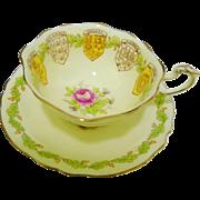 Paragon Patriotic Series Pink Rose tea cup and saucer