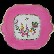1 Aynsley PINK Mikado bird cake plate