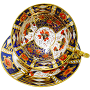 Redfern and Drakeford antique imari tea cup and saucer c.1909 xx
