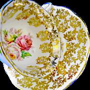 Royal Albert gold chintz rose tea cup and saucer  xx