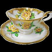 Royal Albert avon large rose gold tea cup and saucer