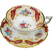 Paragon Cheltenham rose red tea cup and saucer