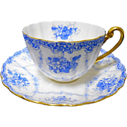 Shelley Ludlow rose basket tea cup and saucer