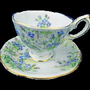 Royal Albert Blue wild rose tea cup and saucer
