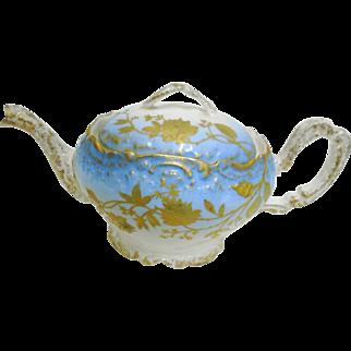 A Klingenberg Limoges gold encrusted bird tea pot