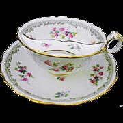 Cauldon china Mustache Moustache tea cup and saucer