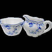 Shelley dainty creamer & sugar bowl set
