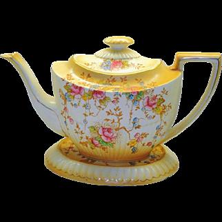 Crown Devon art deco MAY Tea pot & Trivet set