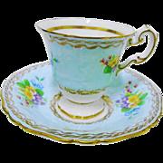EB Foley Primrose textured tall tea cup and saucer