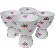 4 Shelley pink Rosebud DOUBLE Egg cups