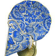 Royal Standard Blue Paisley Retro style tea cup and saucer