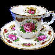Elizabethan Queens buckingham rose tea cup and saucer