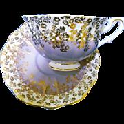 Royal Albert Cascade Gold MAUVE tea cup and saucer