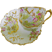 Lewis Straus & Sons Limoges Tea cup and saucer