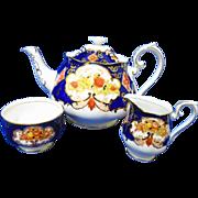 Royal Albert Heirloom imari Avon large Tea pot creamer and sugar bowl