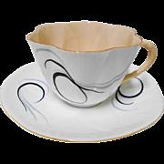 Shelley Dainty peach orange Fantasy tea cup and saucer