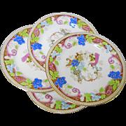 Aynsley china SET of 4 Salad Plates, art deco style
