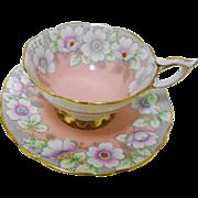 Royal Stafford Mauve Dogwood Newport Pink teacup set