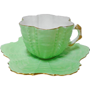 Shelley Wileman Antique Shell lime demi cup and saucer