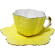 Shelley Wileman Antique Shell Yellow demi cup and saucer