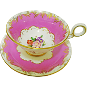 Radford Wide Barbie pink gold tea cup and saucer