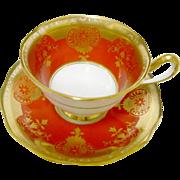 Royal Albert avon gold orange tea cup and saucer