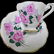 Royal Standard lavish Pink roses tea cup and saucer