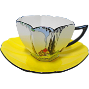 Shelley Queen Anne Art deco Cottage tea cup and saucer