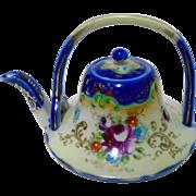 Antique Nippon Tiny TEA for ONE Unique Tea pot, A/F