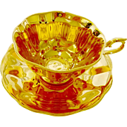 Mayfair English Avon All GOLD tea cup and saucer