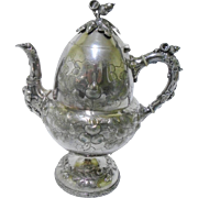 Rogers Smith & Co Silver Plate Tea Coffee Pot, c.1862-1877