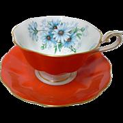 Royal Albert Marguerite Daisy ORANGE avon tea cup and saucer
