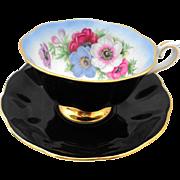 Royal Albert Milady Black avon tea cup and saucer