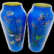 Shelley Art Deco Set of 2 Painted Vase