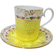 Royal Albert Yellow Belvedere Tall coffee tea cup and saucer