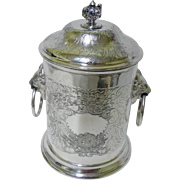 Antique English Silverplate Biscuit barrel Ice Bucket, Sheffield c.1905