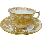 Royal Crown Derby bird Gold Aves tea cup and saucer