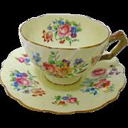 Aynsley Old crocus tea cup and saucer