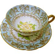 Stanley large yellow rose tea cup and saucer  xx
