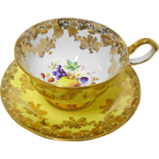 Collingwoods Fruit tea cup and saucer