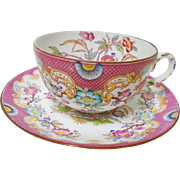 Sarreguemines LARGE BREAKFAST cup and saucer