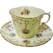 Aynsley Rose Corsage teacup duo