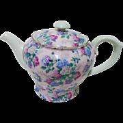 Shelley Mauve Morning Glory tea pot
