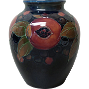 "William Moorcroft Art Pottery POMEGRANATE 6.25"" Vase, c. 1918-20"