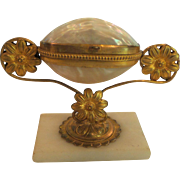 19th French Grand Tour Mother-of-Pearl Jewelry Box on Stand