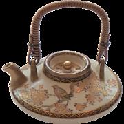 "Japanese SATSUMA 1.75"" Miniature Teapot / Sake Pot, Meiji Period, Signed"
