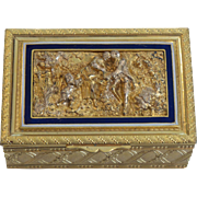French Gilt Bronze & Enamel Dresser or Trinket Box