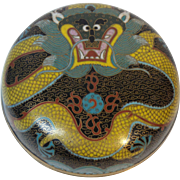 "19th C. Chinese Cloisonne 4.5"" Dragon Box"