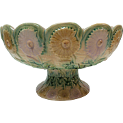 ETRUSCAN Majolica Compote, Griffin, Smith & Hill