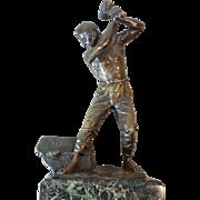 Original FERDINAND LUGERTH (1885-1915) Bronze Sculpture The Stonemason